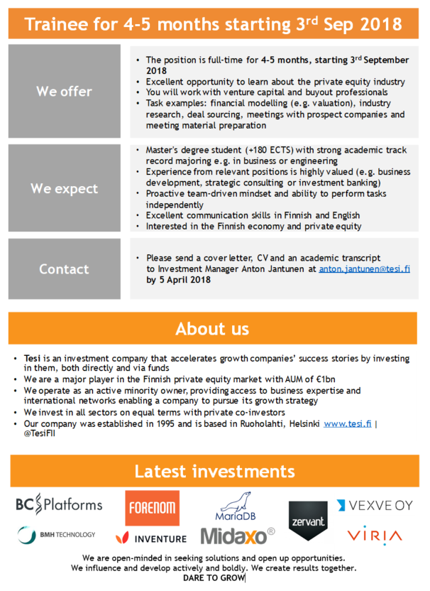We are looking for a full-time INVESTMENT ANALYST TRAINEE ...